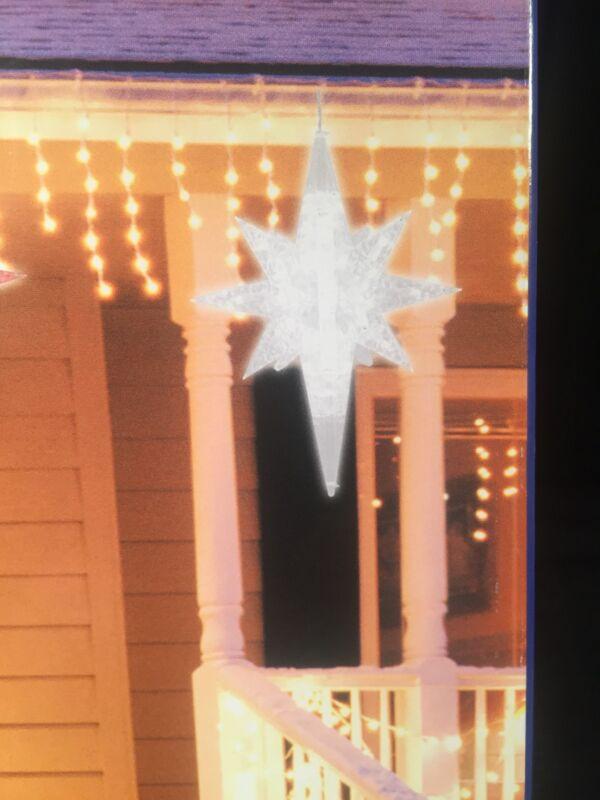 "Moravian 19"" LED 3D WHITE Twinkling 3D Bethlehem Star Christmas Outdoor/Indoor"