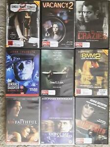 Action DVDs $3ea Lots of titles