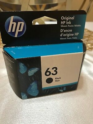 Genuine 63 Black Ink Cartridge HP Envy 4512 4516 4520 3830 4650 Retail Box 2021 - Hp 63 Black Ink Cartridge