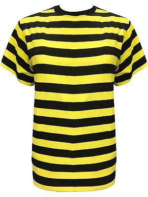 New Ladies Bumble Bee Yellow &Black Stripes T-shirt Top 80's Fancy Dress Costume](Ladies Bee Costume)