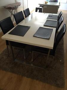 Ice gloss white dining table Springfield Lakes Ipswich City Preview