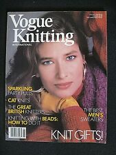 VOGUE KNITTING INTERNATIONAL - HOLIDAY 1986 - 35 PATTERNS ...