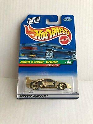 Hot Wheels Dash 4 Cash Series Ferrari F40 #2/4 Gold D7