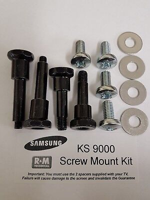 Samsung Wall Mount Screws Kit with Spacers UE49KS9000, UE55KS9000, UE65KS9000 Samsung Wall Mount Kit