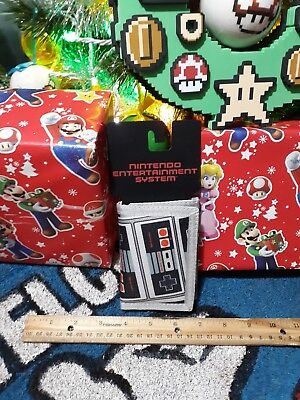 Nintendo Controller Tri-Fold Nylon Canvas Wallet w/ Hole for Chain New 2017
