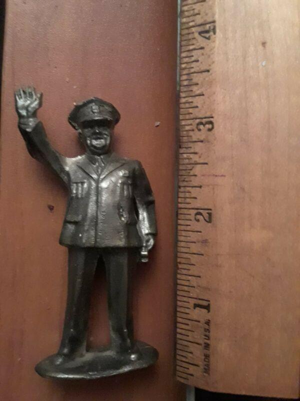 Vintage Metal Pewter Figure Police Officer Cop Policeman Rare Antique Display