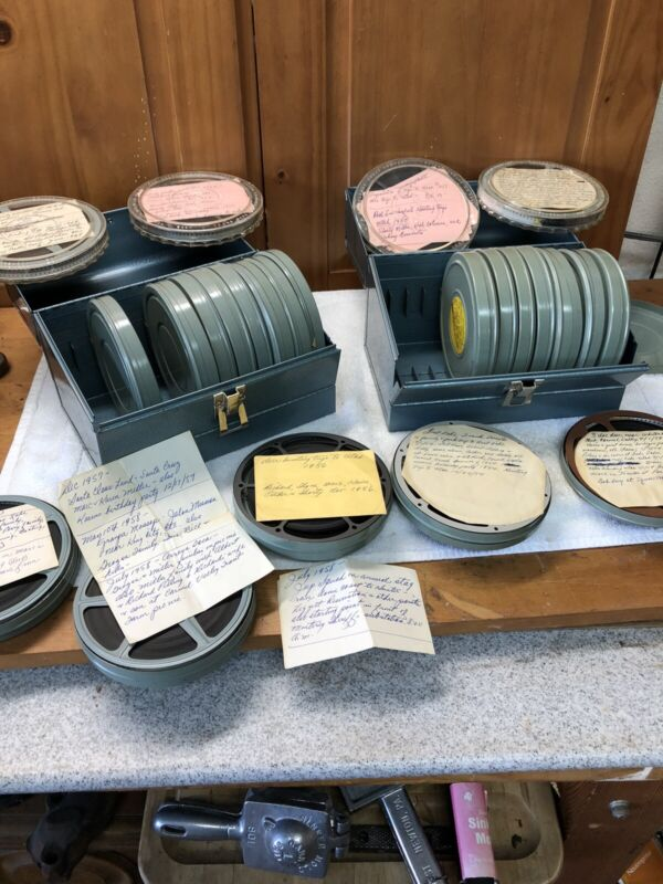 Vintage 8mm Movies 24 Reels And Case