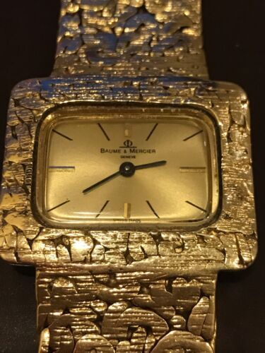 Vintage Baume Mercier 14k Solid Gold Men's Watch *Heavy 89 Gram* EXTREMELY RARE - watch picture 1
