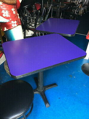 Used 30 X 48 Commercial Restaurant Tables Base Blue Pick Up Only In Illinois