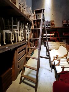 Large Vintage Timber Trestle Ladder Stafford Heights Brisbane North West Preview