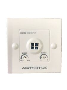 Extractor Fan Inline Bathroom Run On Timer Humidity Sensor Switch Socket