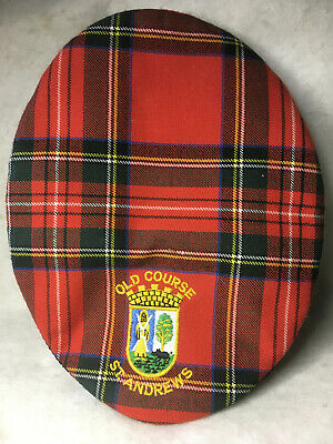7ce3164aa4e VTG Old Course St. Andrews Red Tartan Plaid Newsboy Scotland Golf Hat