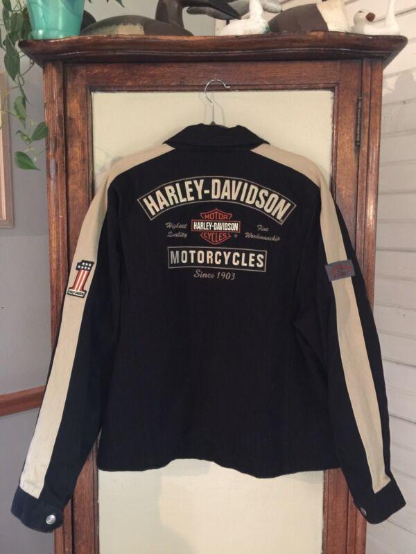 mens harley davidson jacket size large, EUC