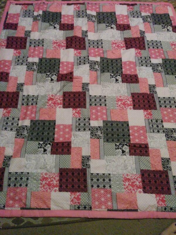 Handmade baby girl quilt