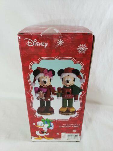 """Kurt Adler Wooden Walt Disney® Minnie Mouse Nutcracker 11"""" - Gingerbread & Hat"""