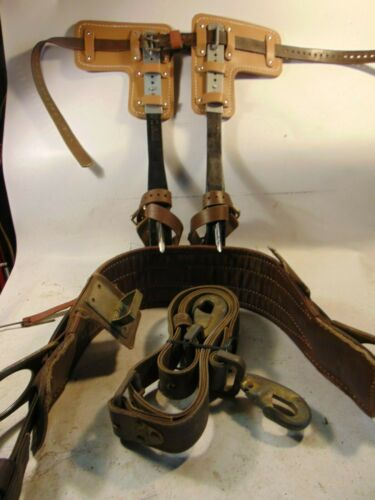 BUCKINGHAM No.9107 ADJUSTABLE STEEL TREE Climbing Spurs/Spikes/Gaffs Kit