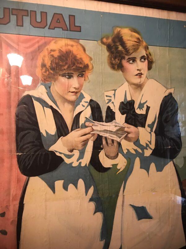 Vintage Silent Film Movie Poster