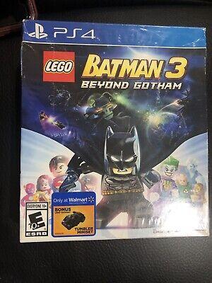 PS4 Lego Batman 3 Beyond Gotham Tumbler Bundle Edition Factory Sealed