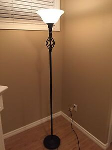 Black and White Torchiere Floor Lamp