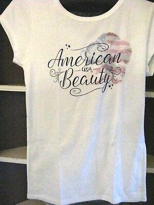 Crazy Shirts Hawaii Short Sleeve American Beauty Usa  Rib Knit T Shirt Womens M