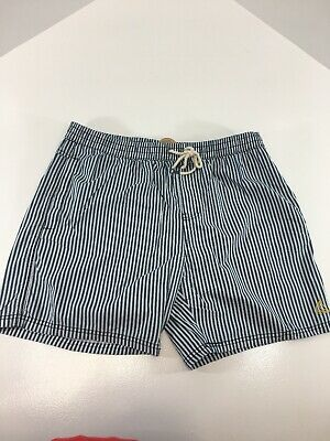 Better Cotton Initiative Mens Pull On Shorts Navy/White Stripe Size XL