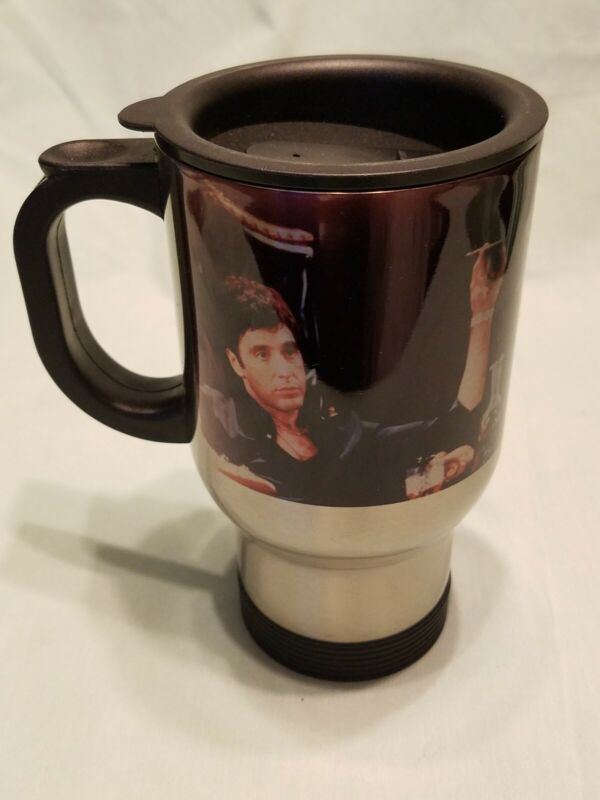 Scarface Al Pacino Stainless Steel Travel Mug 16 Oz Say I Always Tell the Truth