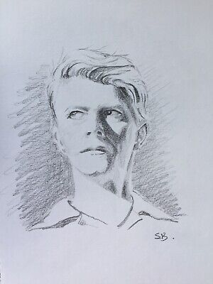 Original Artwork by Sungy Graphite Pencil Drawing David Bowie