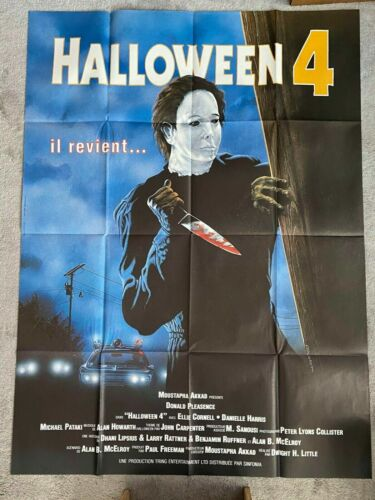 Halloween 4 Carpenter Myers 1988 original poster France 5feetx4 Danielle Harris