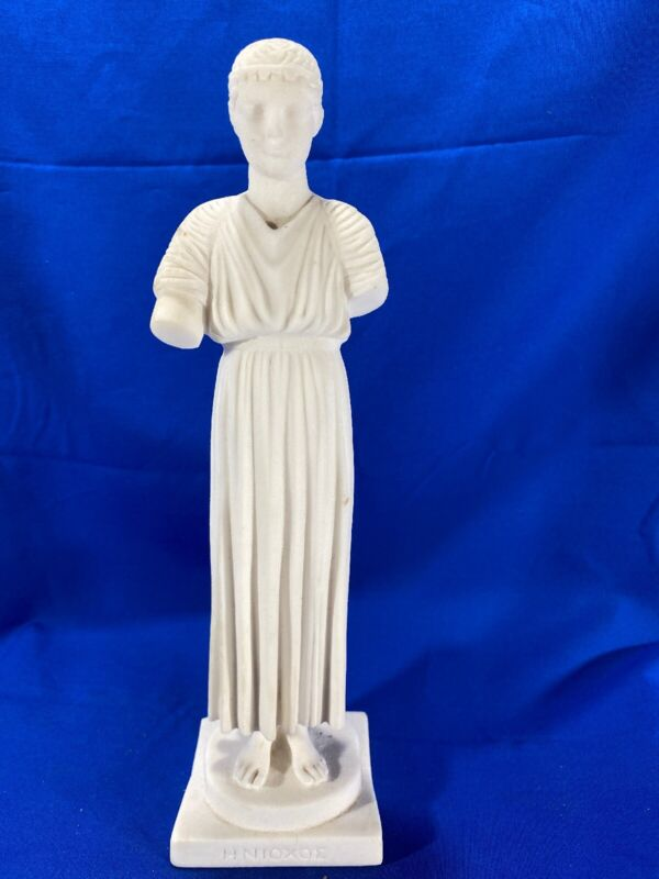"ANCIENT GREEK REPLICA STATUE THE CHARIOTEER OF DELPHI SCULPTURE - 10"" Tall-*Read"