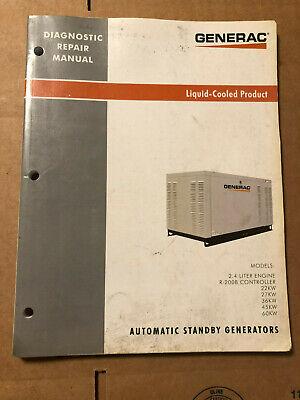 Generac 0h0983 Rev. A Liquid Cooled Standby Generators Diagnostic Repair Manual