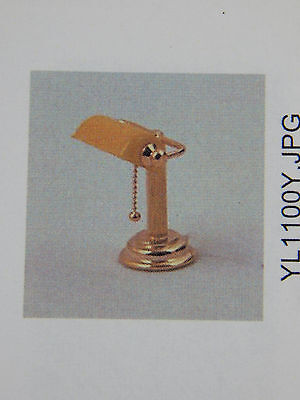 Heidi Ott Dollhouse Miniature  Light Sun Gold Desk Table Lamp  #YL1100-Y -