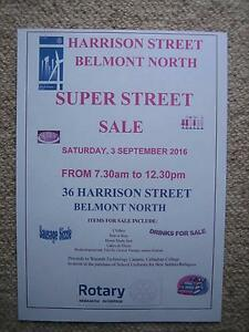 Super Street Sale at 4 locations Harrison Street, Belmont North Belmont North Lake Macquarie Area Preview