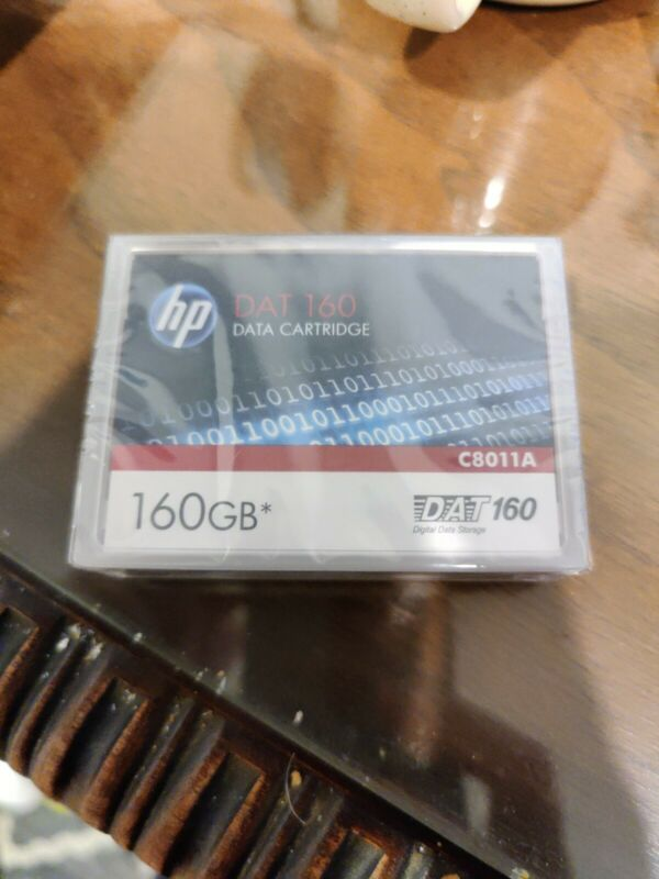 HP C8011A DAT 160 Data Cartridge 160GB New Sealed