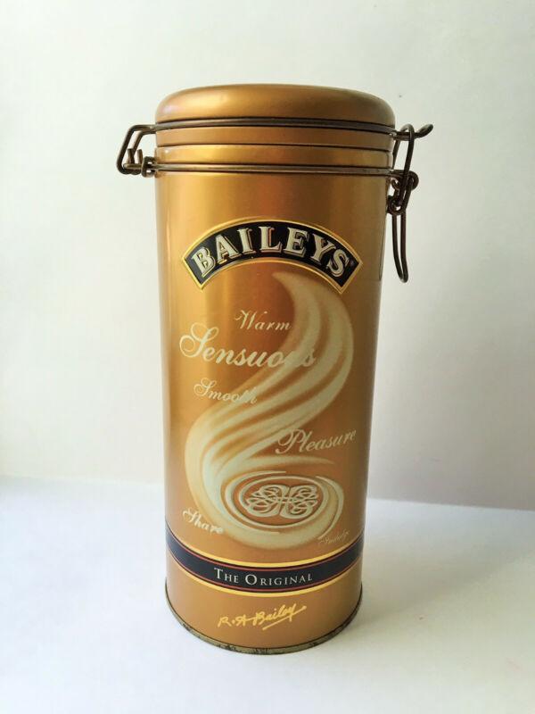 Baileys Irish Cream Liquor Empty Tin Canister 2002 Hinged Lid