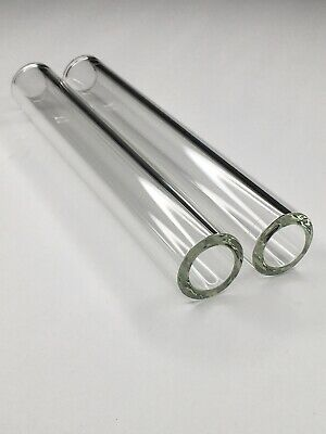 7 Inch Borosilicate Glass Tubes 2 Pack 26mm Od 20mm Id 3mm Tick Fire Rounded