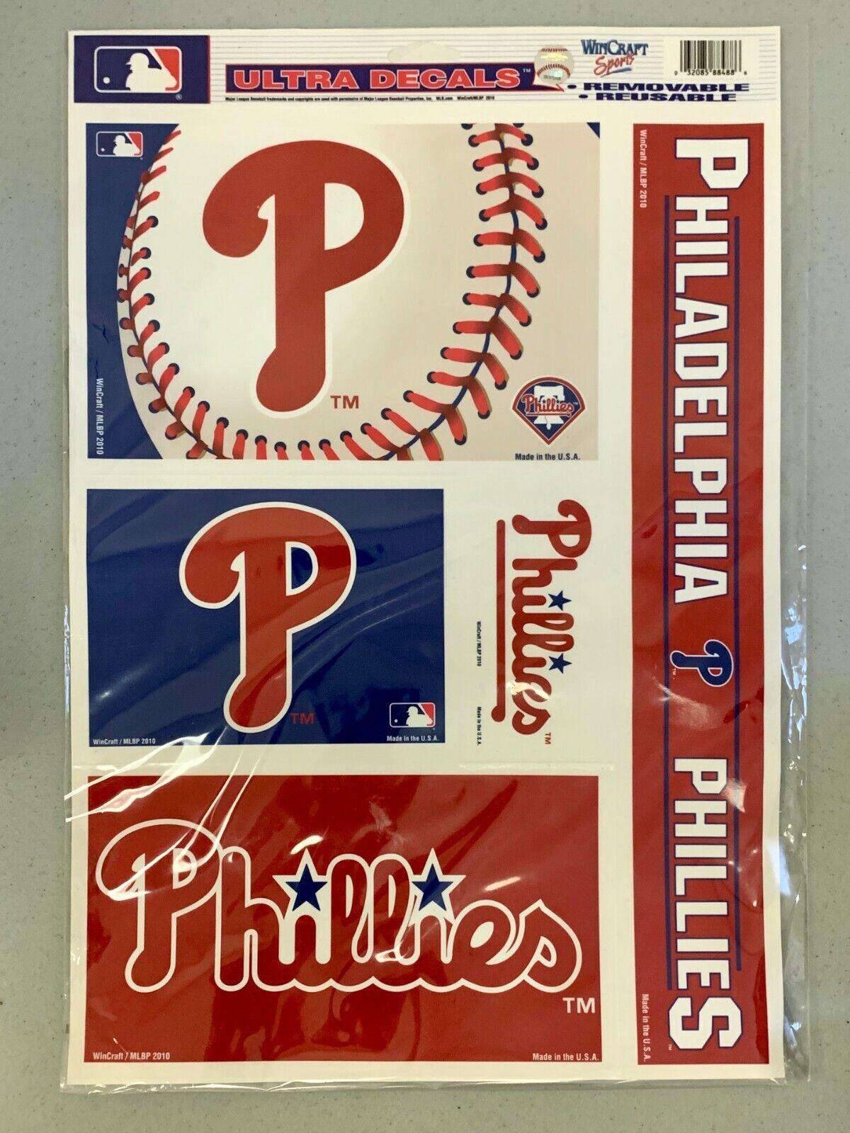 "Philadelphia Phillies Logo Premium 11.5""x17"" Ultra Decal She"