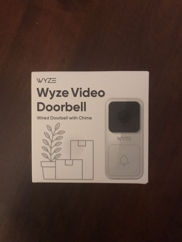 Wyze Video Doorbell Wired - Smart Camera with I Backed Sticker Motion 1080P