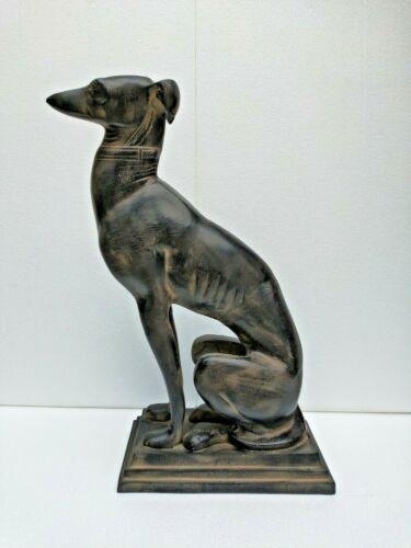 Large Metal Greyhound Dog Statue Figurine Home  Garden Decor 22 inch