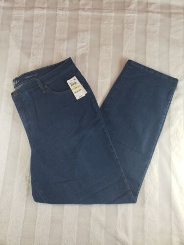 NWT Style Co High Rise Tummy Control Straight Leg Jeans Plus Size 18W Med Wash - $28.29