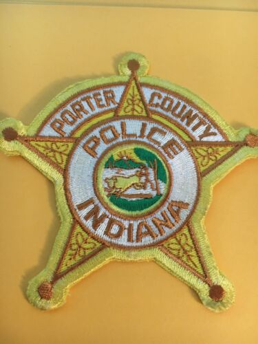 Porter County Indiana Sheriff Vintage Police Patch