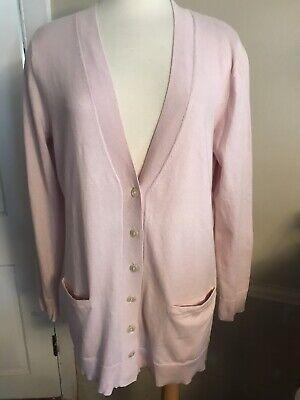 eddie bauer cotton cashmere womens long v neck cardigan -