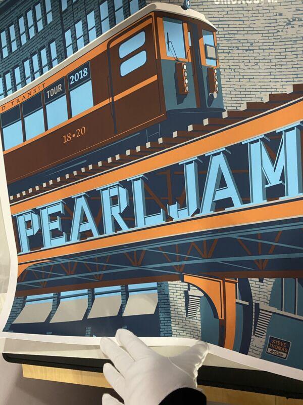 Pearl Jam Wrigley Field Chicago Poster Steve Thomas Train 2018 Eddie Vedder