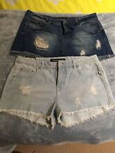 2 x BNWT denim cut off shorts Gilmore Tuggeranong Preview