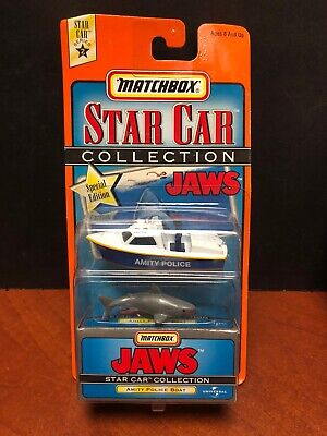 Matchbox Star Car Collection Jaws Amity Police Boat Dela2574