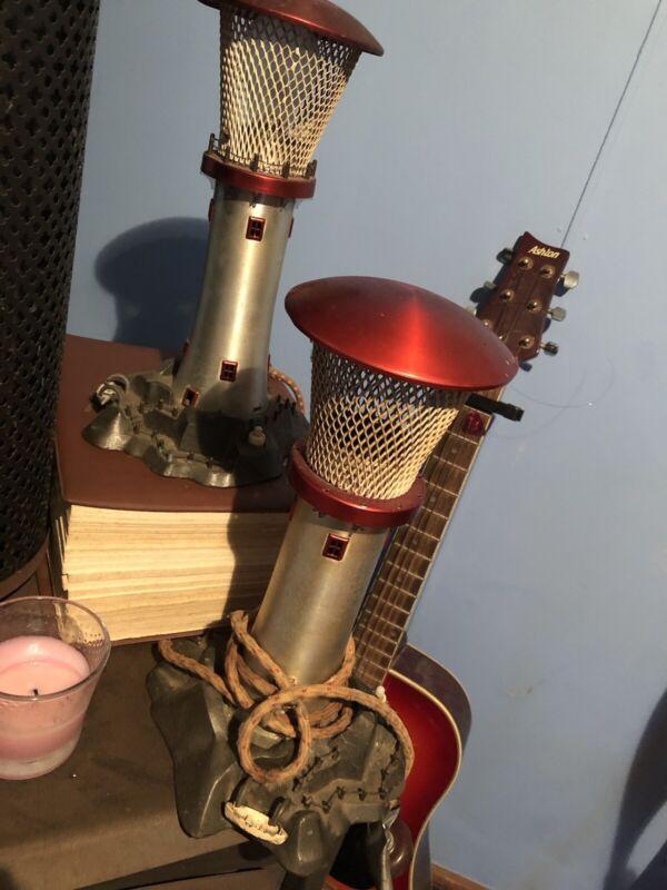Vintage Lighthouse Lamp X 2