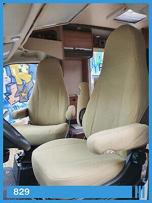 2 Stück Wohnmobil Sitzbezüge Schonbezüge Ducato Aguti Fahrer und Beifahrer 829
