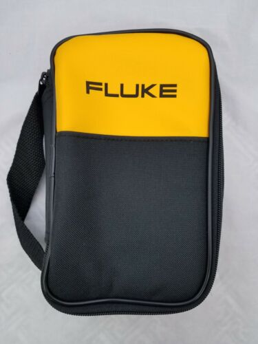 """FLUKE SOFT CARRYING CASE/ POUCH NEW ,8""""-5""""-2"""", FREE SET OF TEST LEADS !!"""