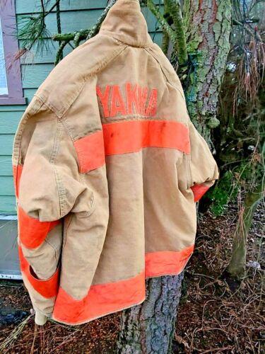 Body Guard Firefighter Brown Turnout Jacket Coat YAKIMA WASHINGTON MAN CAVE SZ S