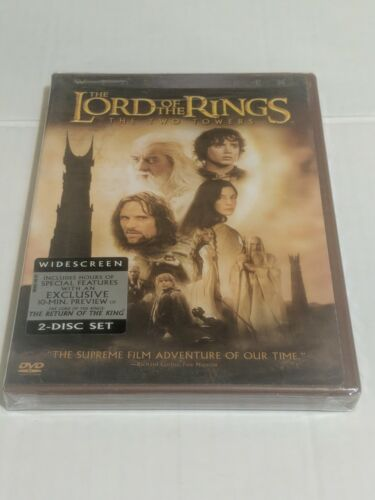 THE LORD OF THE RINGS - The Two Towers Fantasy Widescreen DVD Ian McKellen  - $8.99