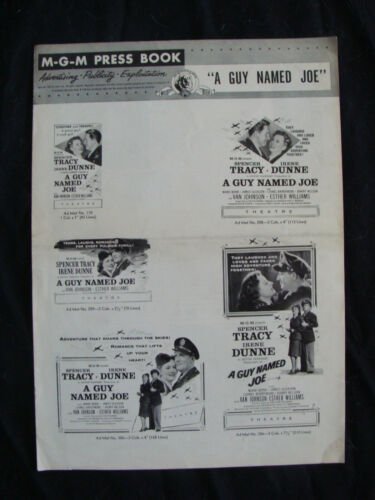 A GUY NAMED JOE press book SPENCER TRACY IRENE DUNNE 1955